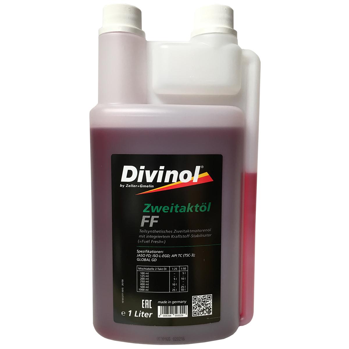 divinol zweitakt l ff 1 l dosierflasche 2 takt l 2t motor l motors ge motorsens ebay. Black Bedroom Furniture Sets. Home Design Ideas